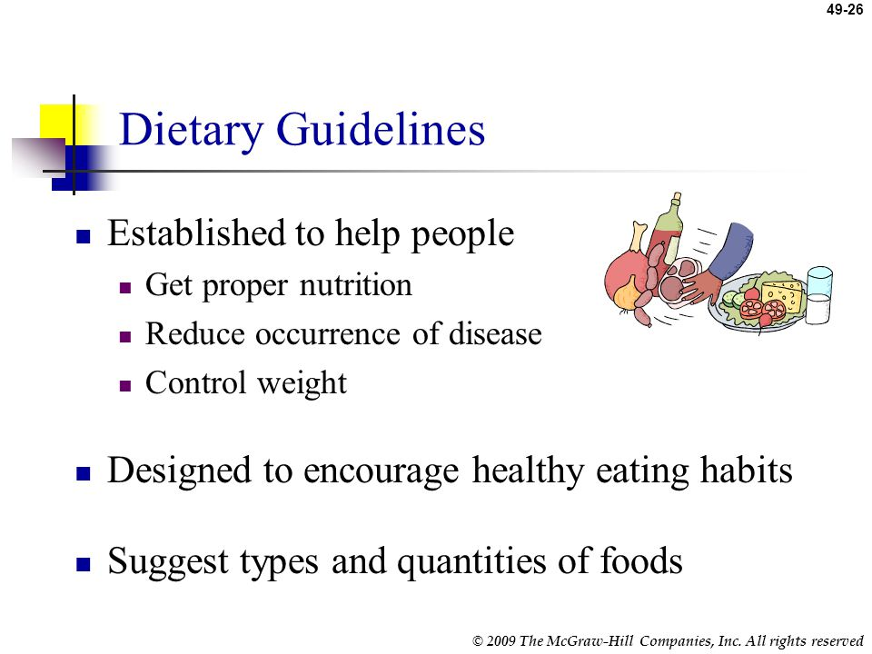 Dietary Guidelines Established to help people