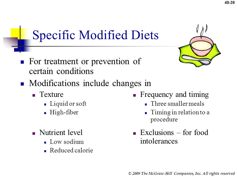 Specific Modified Diets