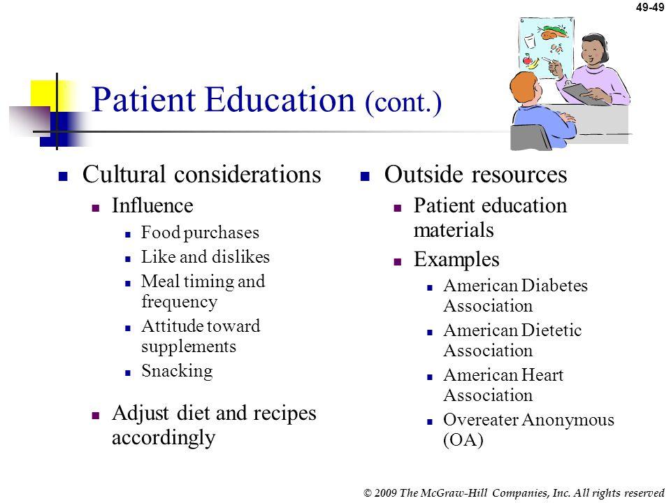 Patient Education (cont.)