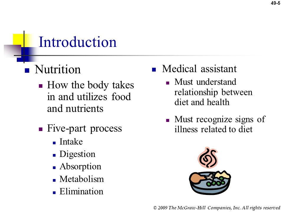 Introduction Nutrition Medical assistant