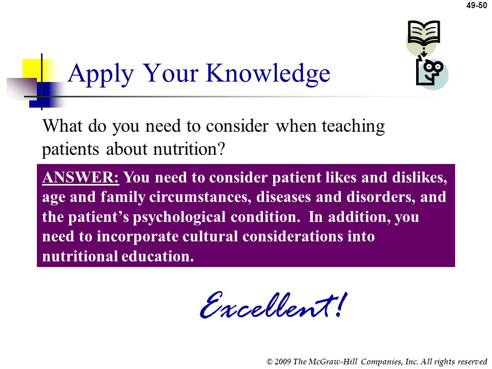 Excellent! Apply Your Knowledge
