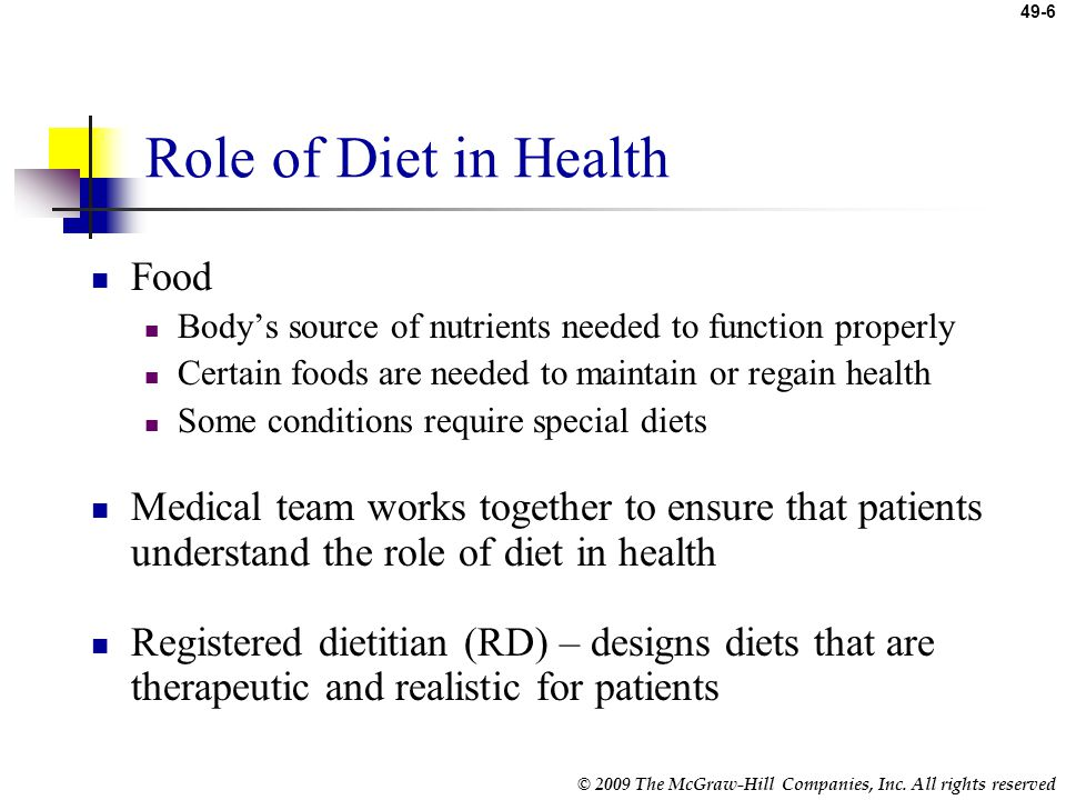 Role of Diet in Health Food