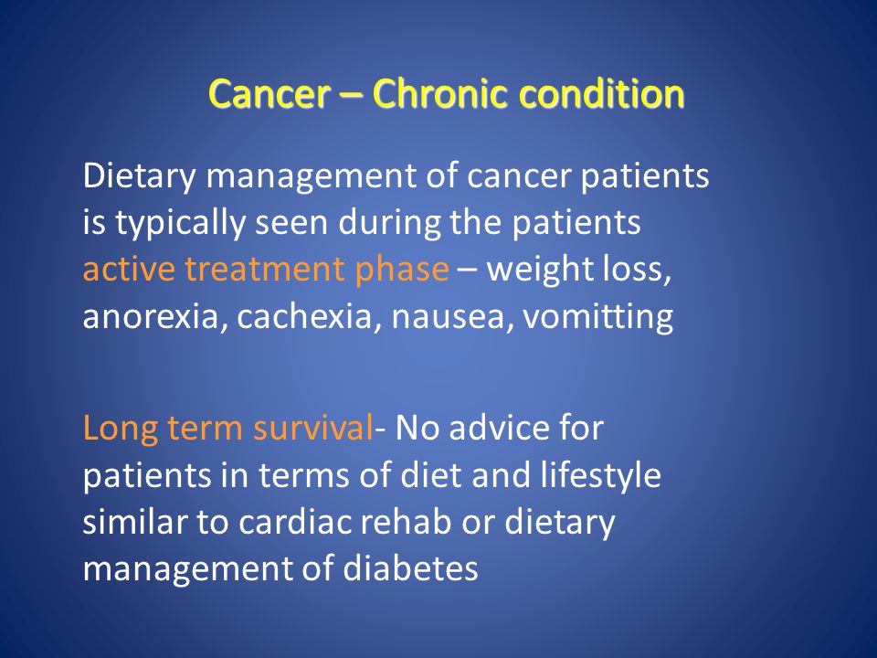 Cancer – Chronic condition