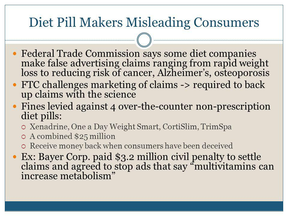 Diet Pill Makers Misleading Consumers