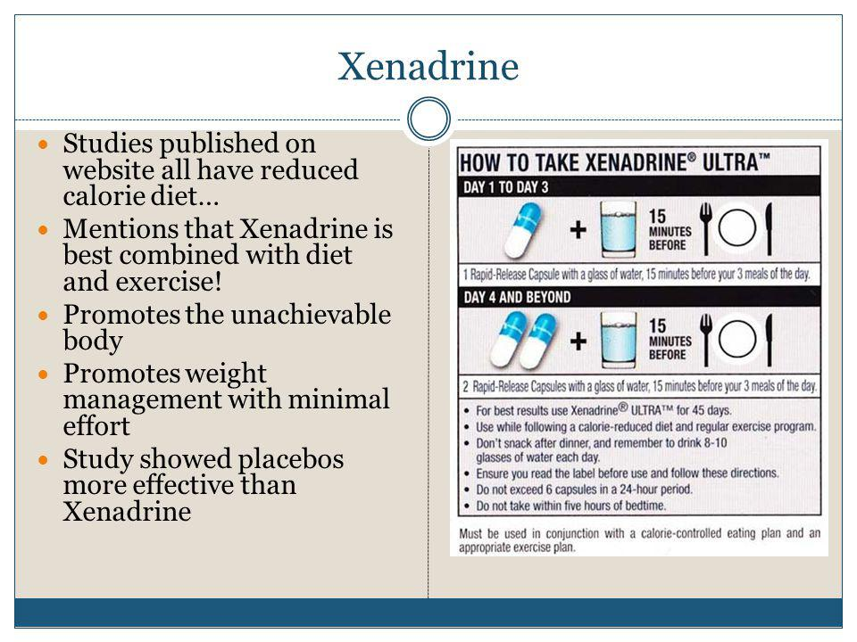 Xenadrine Studies published on website all have reduced calorie diet…