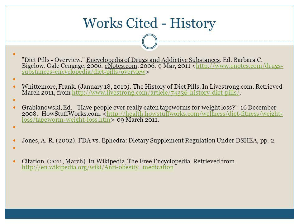 Works Cited - History