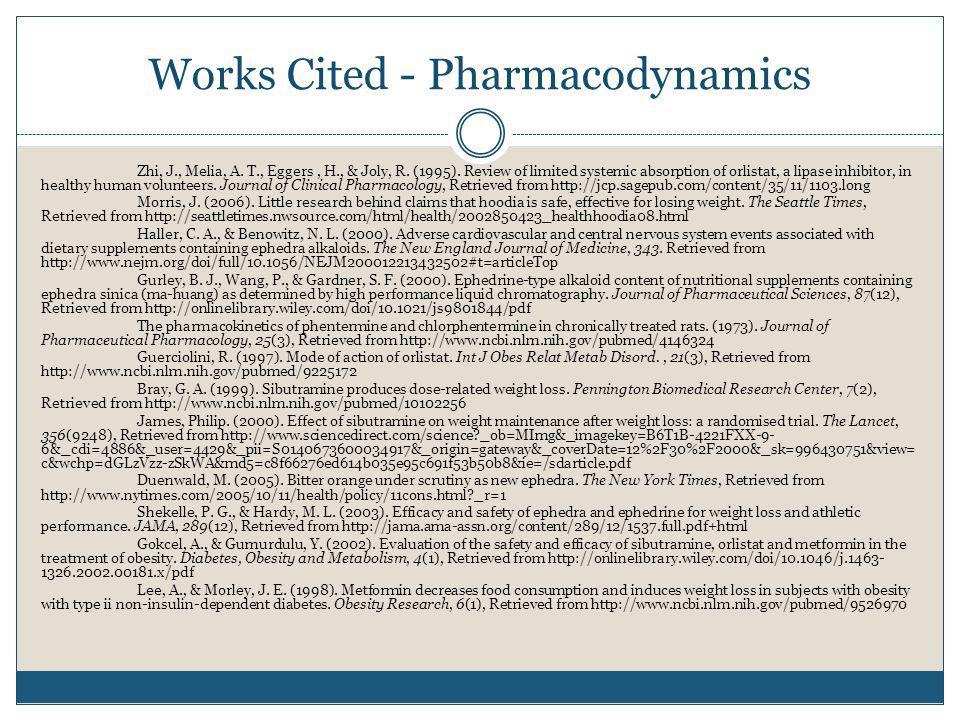 Works Cited - Pharmacodynamics