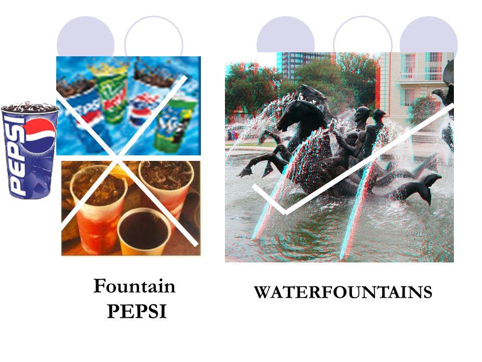 Fountain PEPSI WATERFOUNTAINS