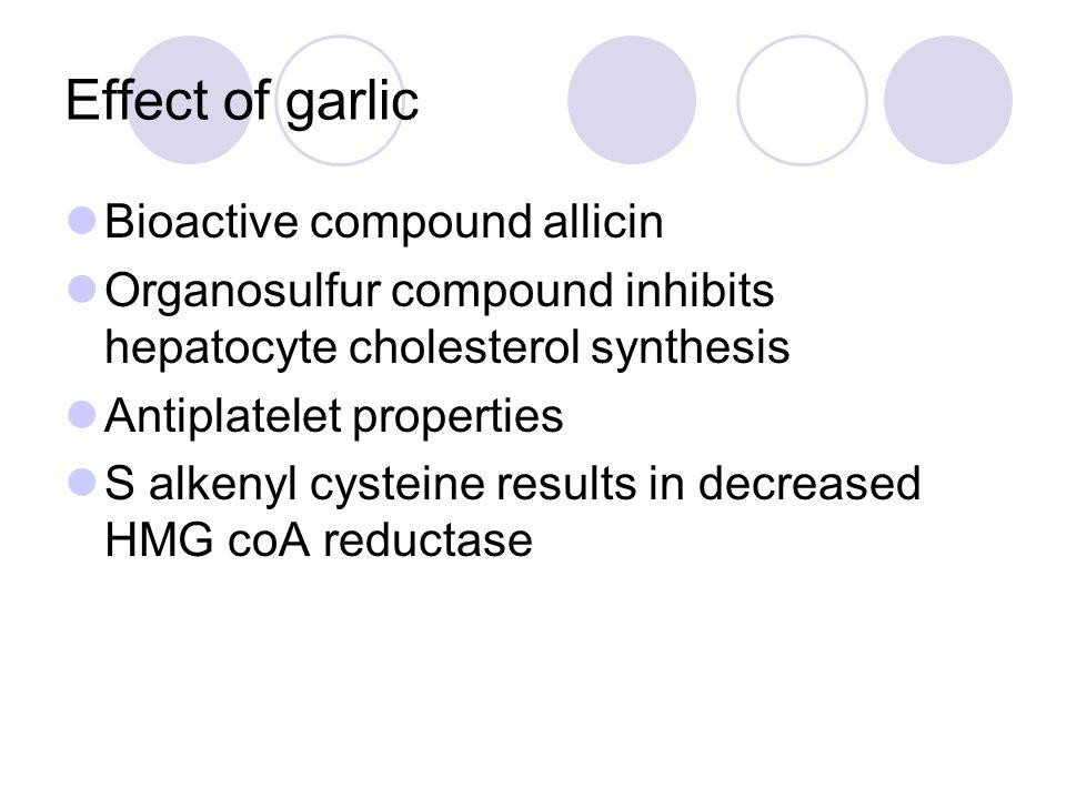 Effect of garlic Bioactive compound allicin
