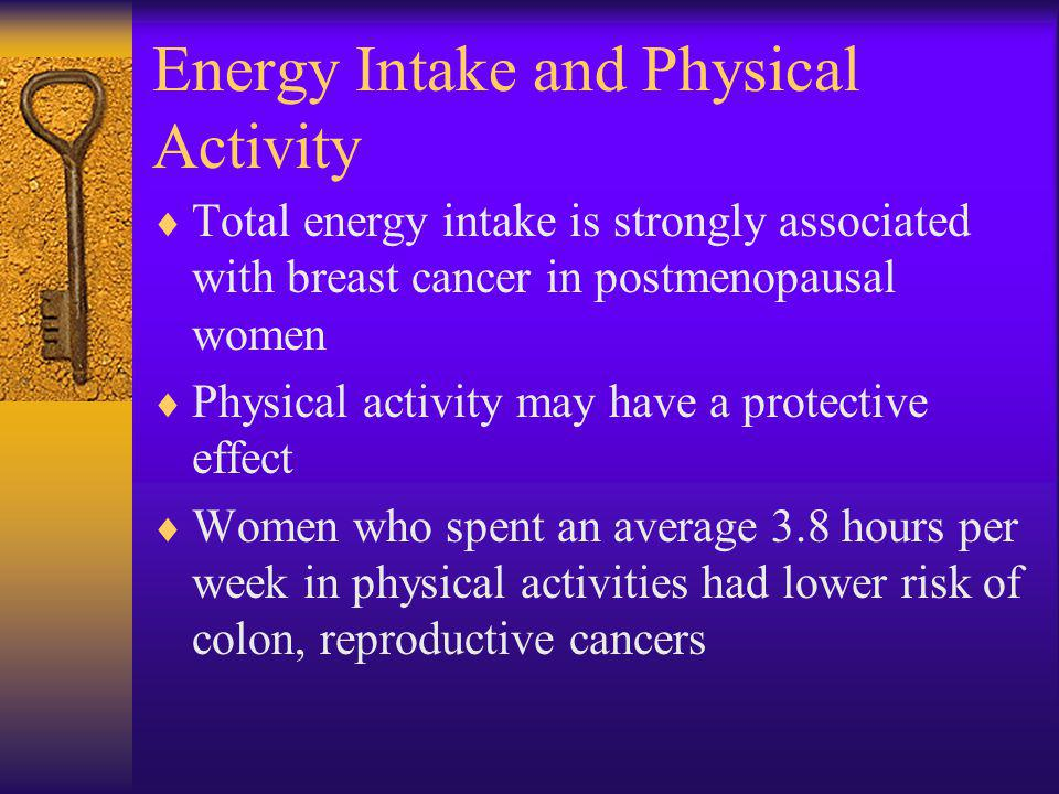 Energy Intake and Physical Activity