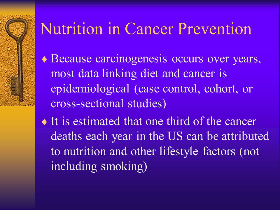 Nutrition in Cancer Prevention