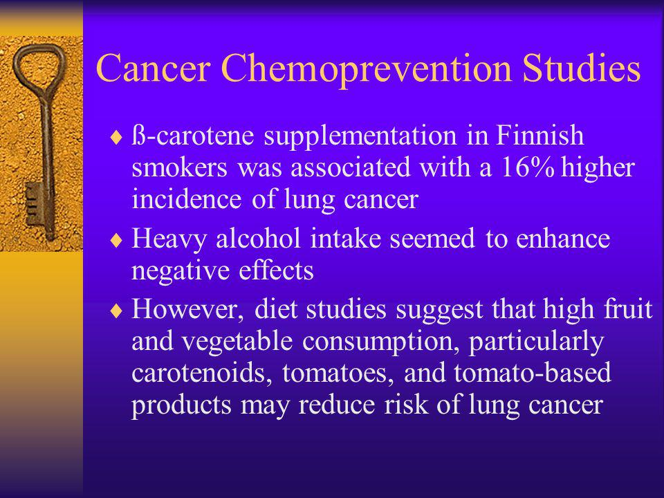 Cancer Chemoprevention Studies
