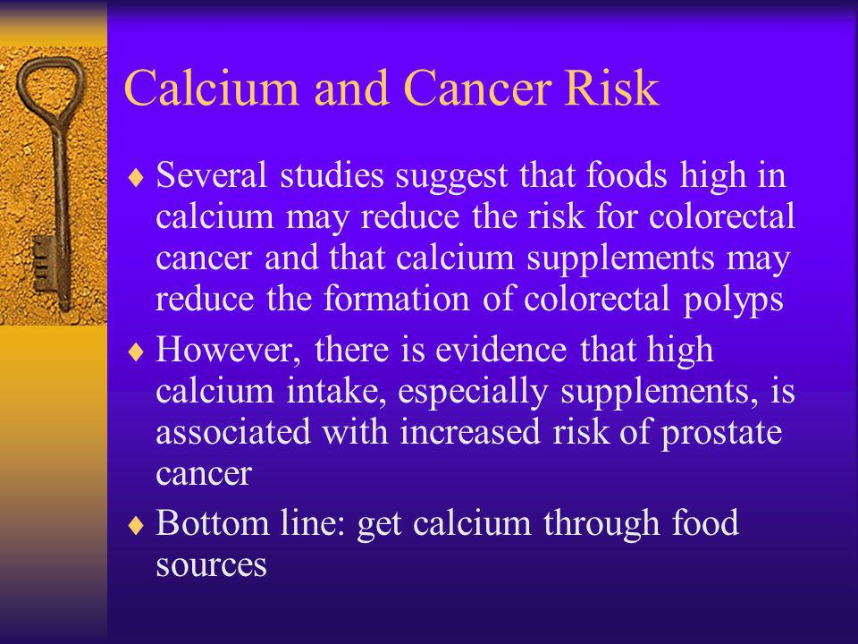 Calcium and Cancer Risk