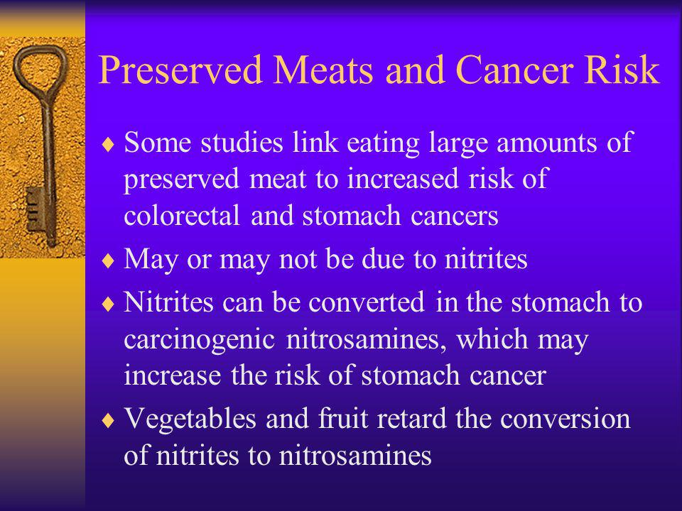 Preserved Meats and Cancer Risk