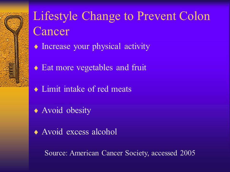 Lifestyle Change to Prevent Colon Cancer