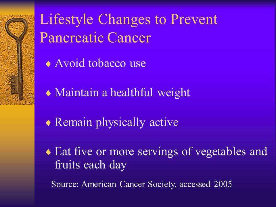 Lifestyle Changes to Prevent Pancreatic Cancer
