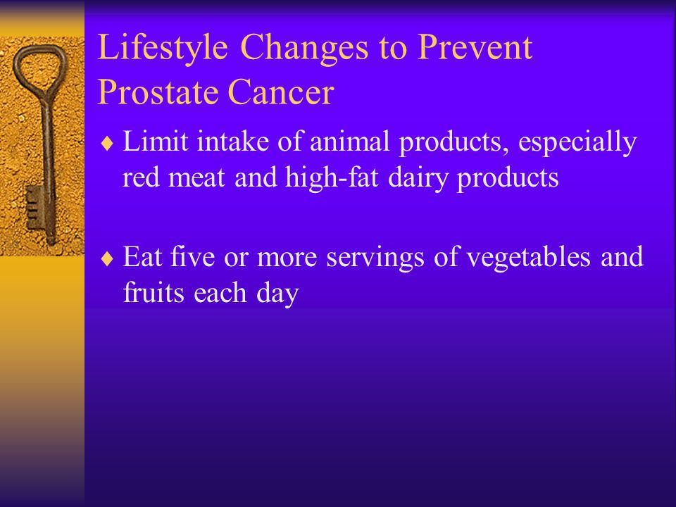 Lifestyle Changes to Prevent Prostate Cancer