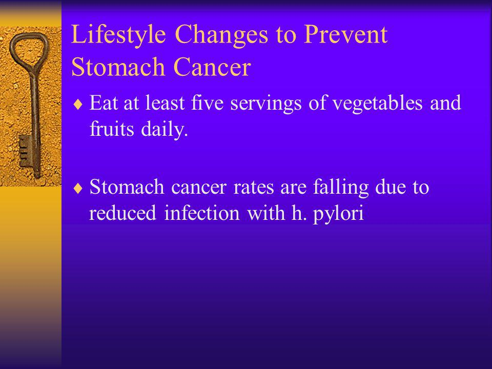 Lifestyle Changes to Prevent Stomach Cancer