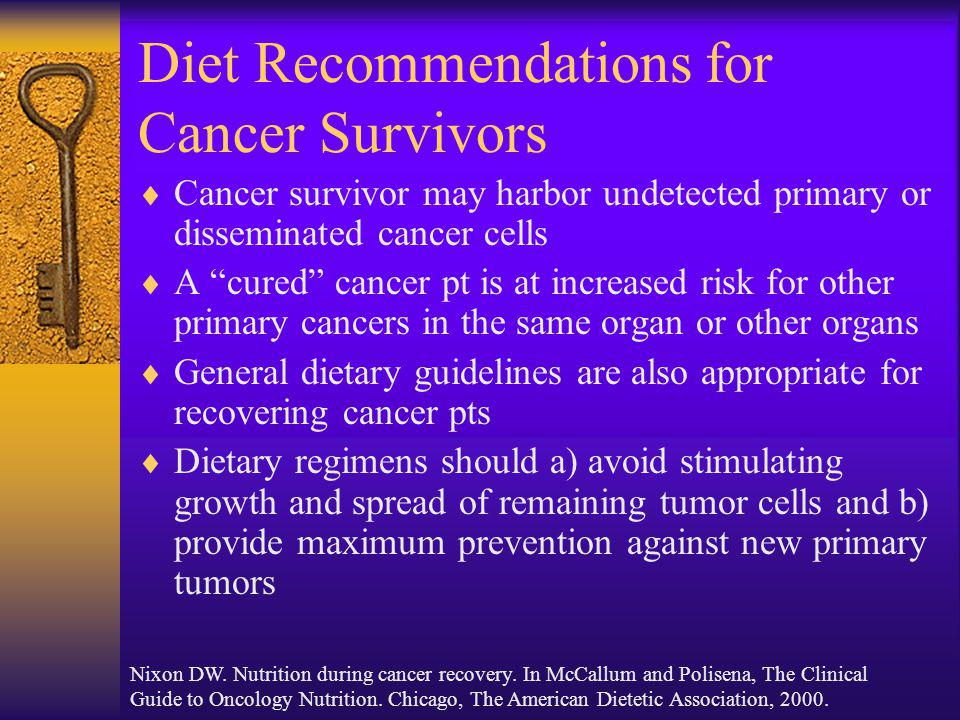 Diet Recommendations for Cancer Survivors