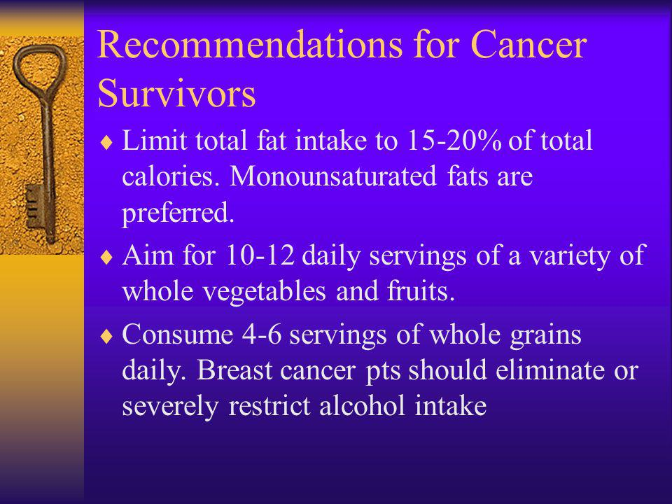 Recommendations for Cancer Survivors