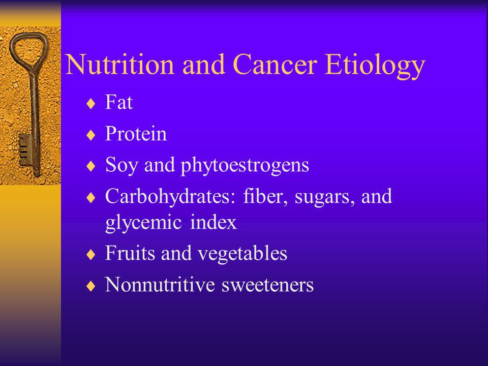 Nutrition and Cancer Etiology