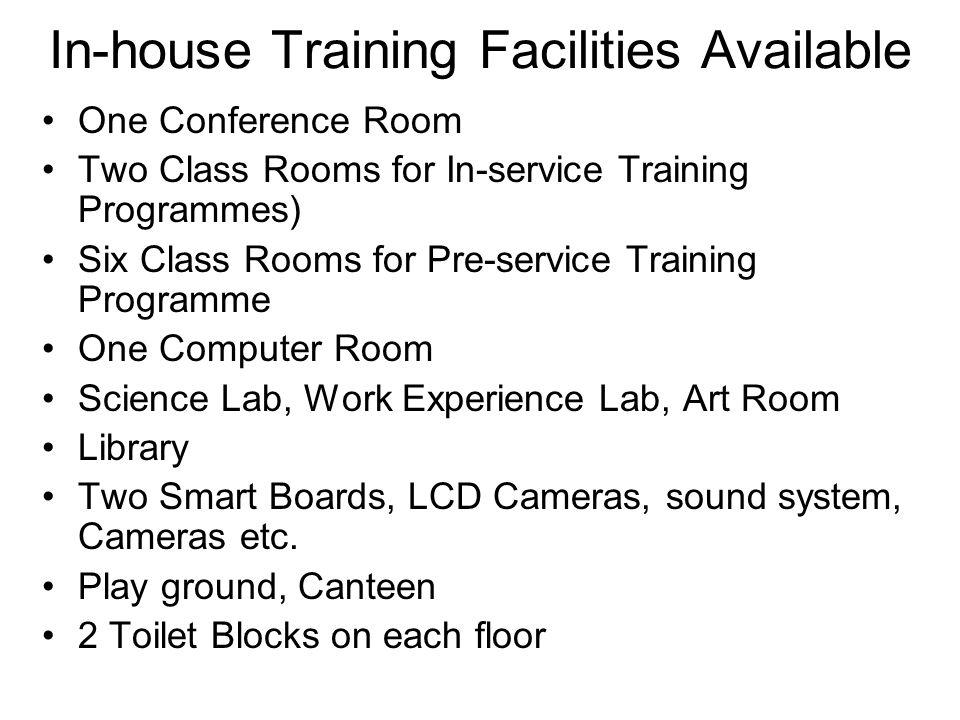 In-house Training Facilities Available