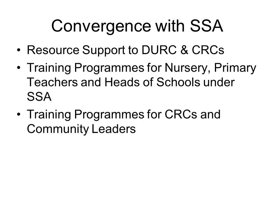 Convergence with SSA Resource Support to DURC & CRCs