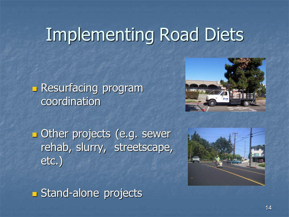 Implementing Road Diets