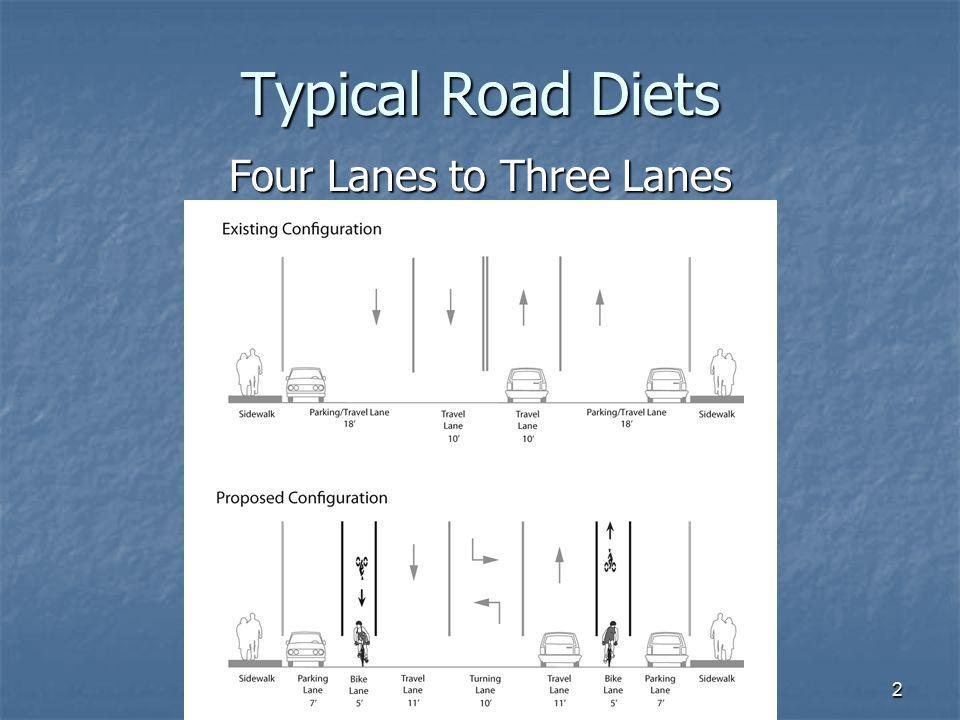 Four Lanes to Three Lanes