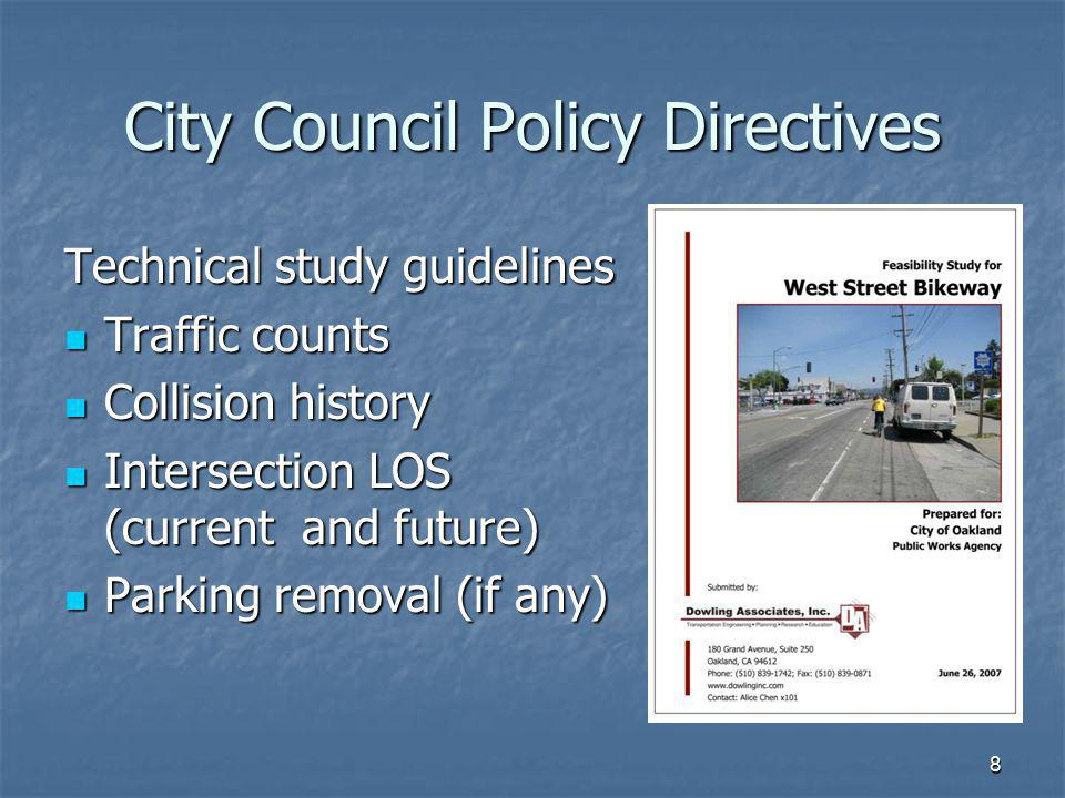 City Council Policy Directives