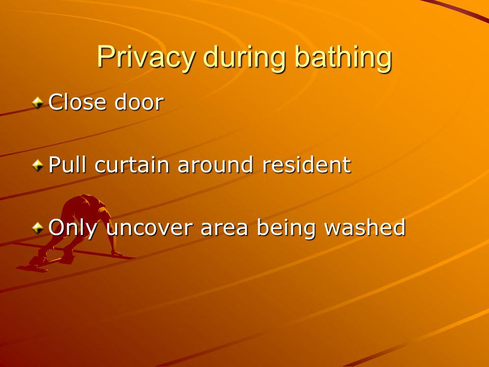 Privacy during bathing