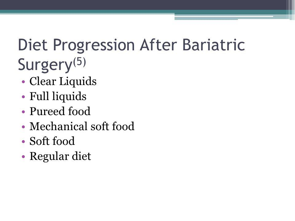 Diet Progression After Bariatric Surgery(5)