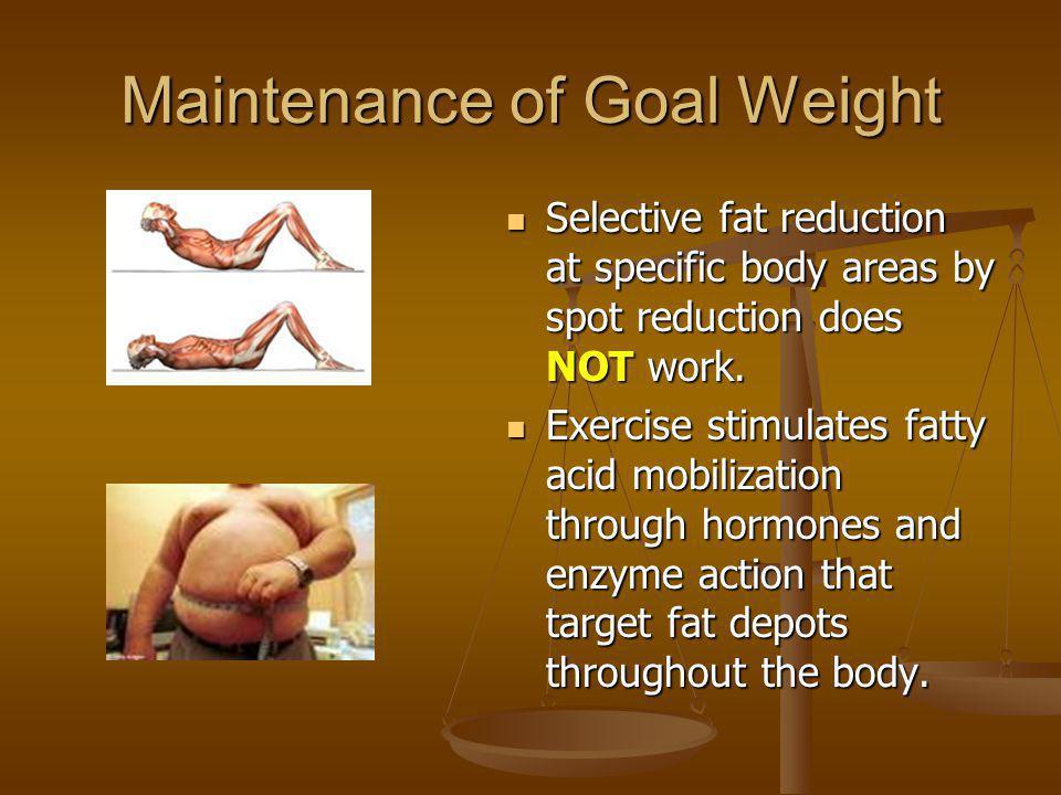 Maintenance of Goal Weight