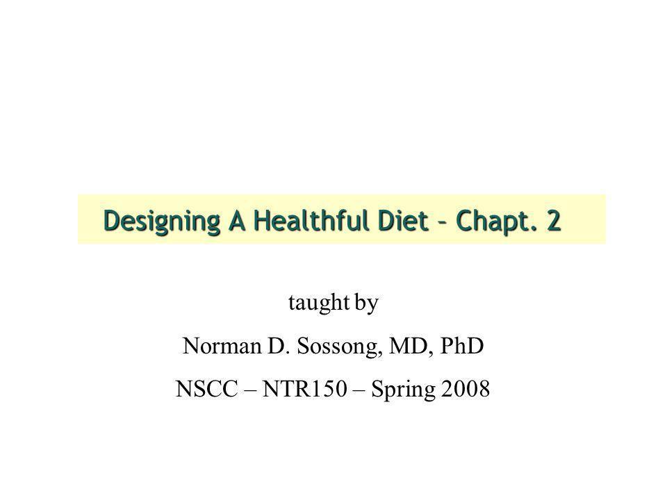 Designing A Healthful Diet – Chapt. 2