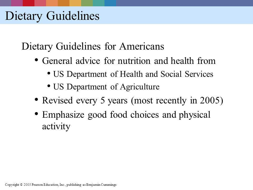 Dietary Guidelines Dietary Guidelines for Americans