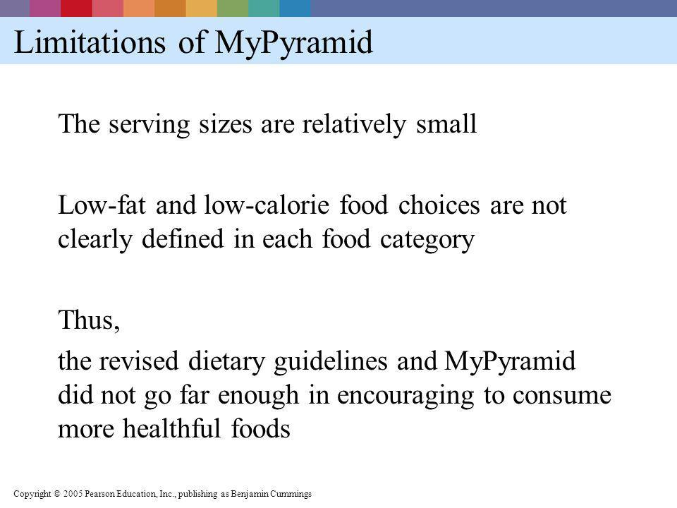 Limitations of MyPyramid