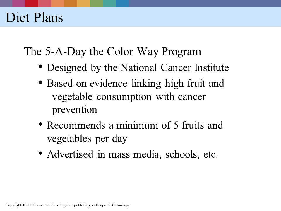 Diet Plans The 5-A-Day the Color Way Program