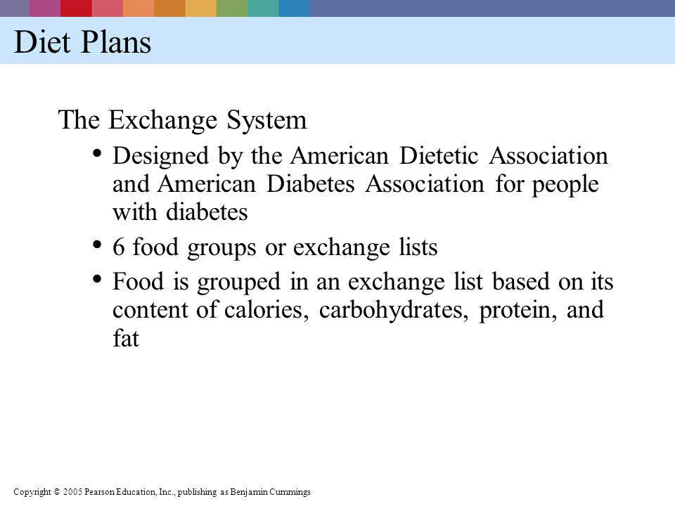 Diet Plans The Exchange System