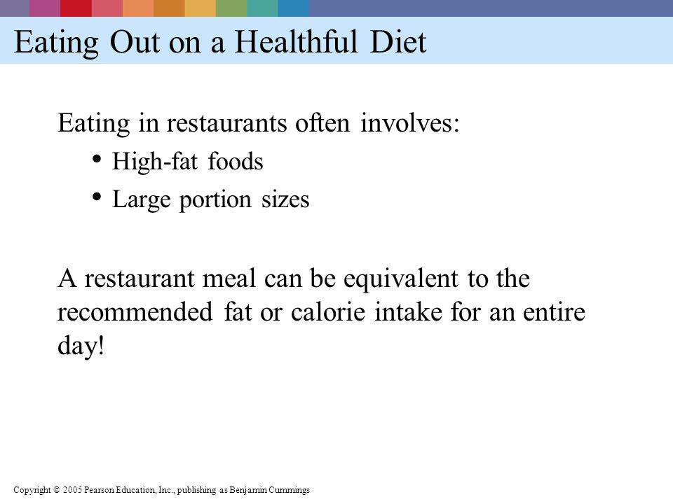 Eating Out on a Healthful Diet
