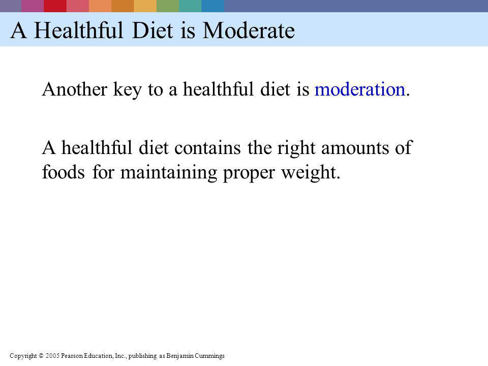 A Healthful Diet is Moderate