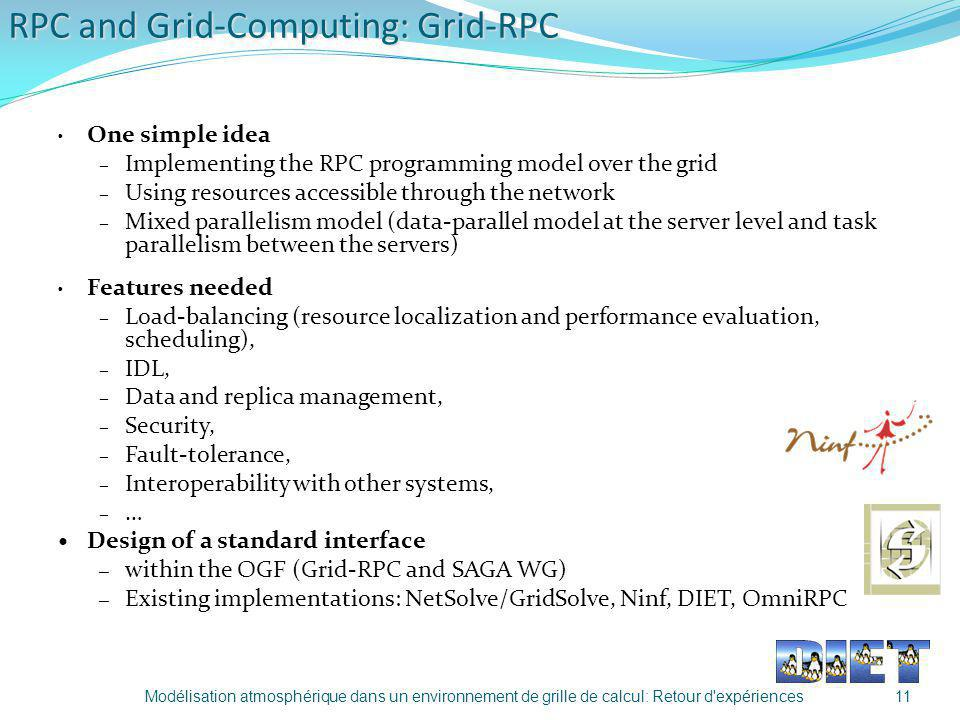 RPC and Grid-Computing: Grid-RPC