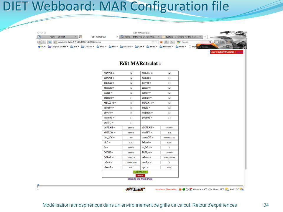 DIET Webboard: MAR Configuration file