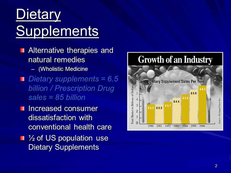 Dietary Supplements Alternative therapies and natural remedies