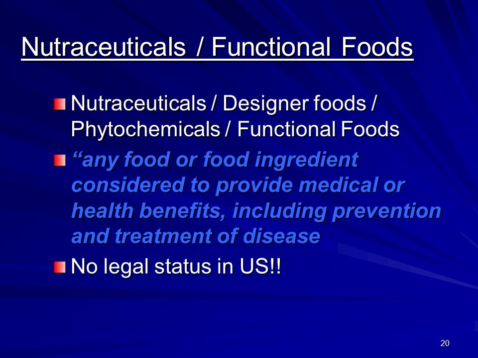 Nutraceuticals / Functional Foods