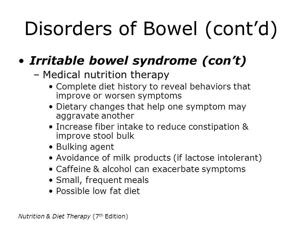 Disorders of Bowel (cont'd)