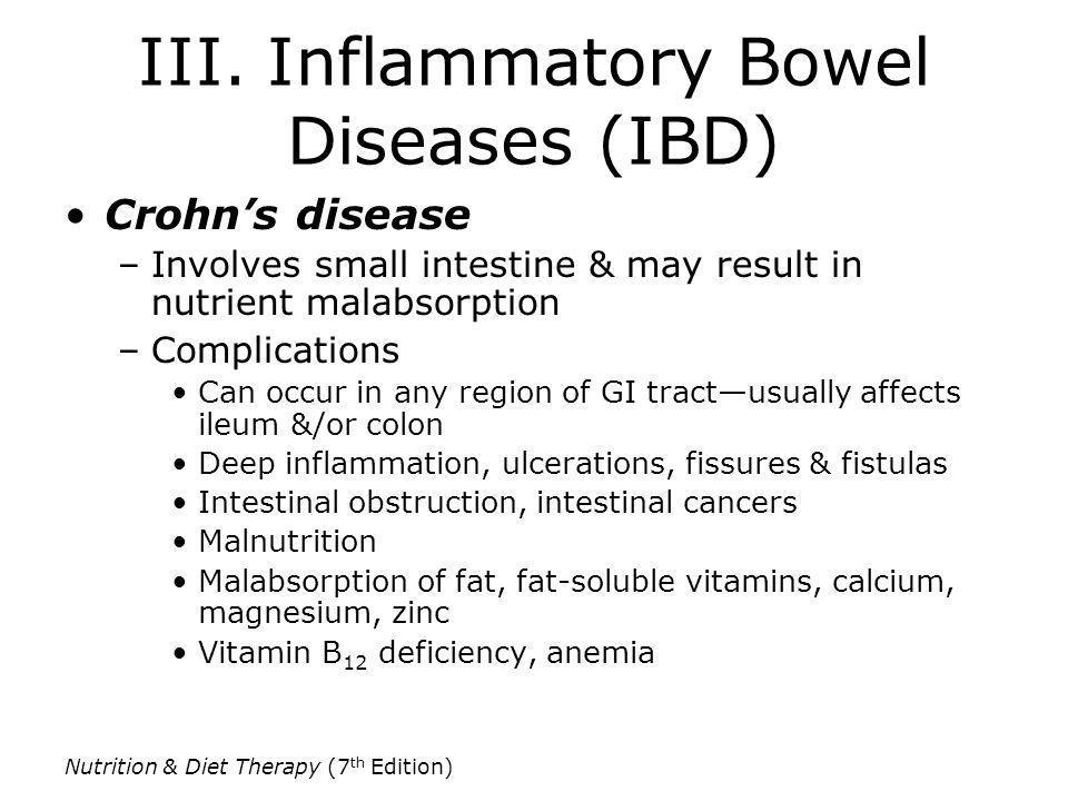 III. Inflammatory Bowel Diseases (IBD)