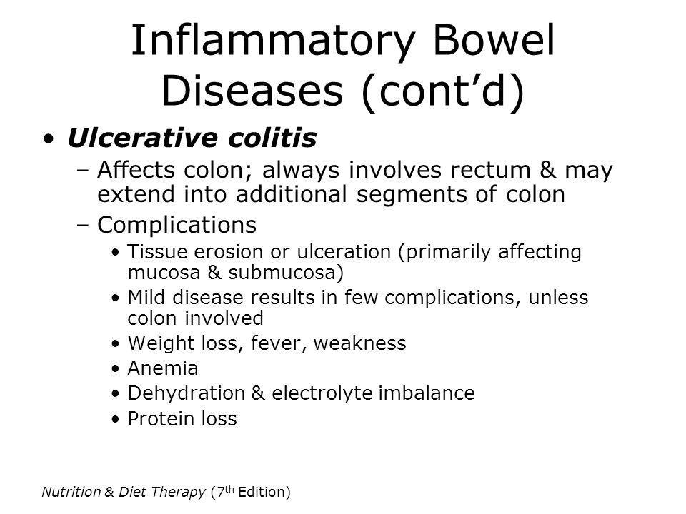 Inflammatory Bowel Diseases (cont'd)