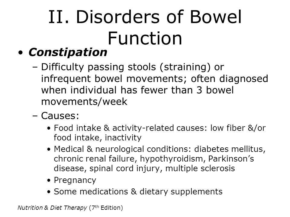 II. Disorders of Bowel Function