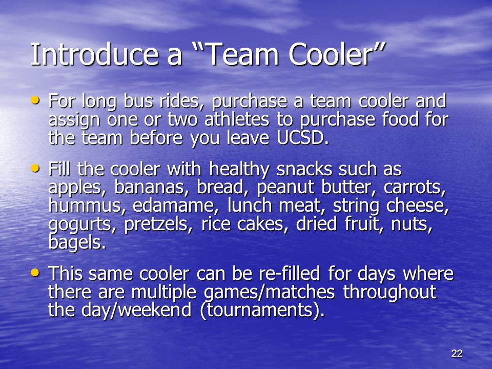 Introduce a Team Cooler