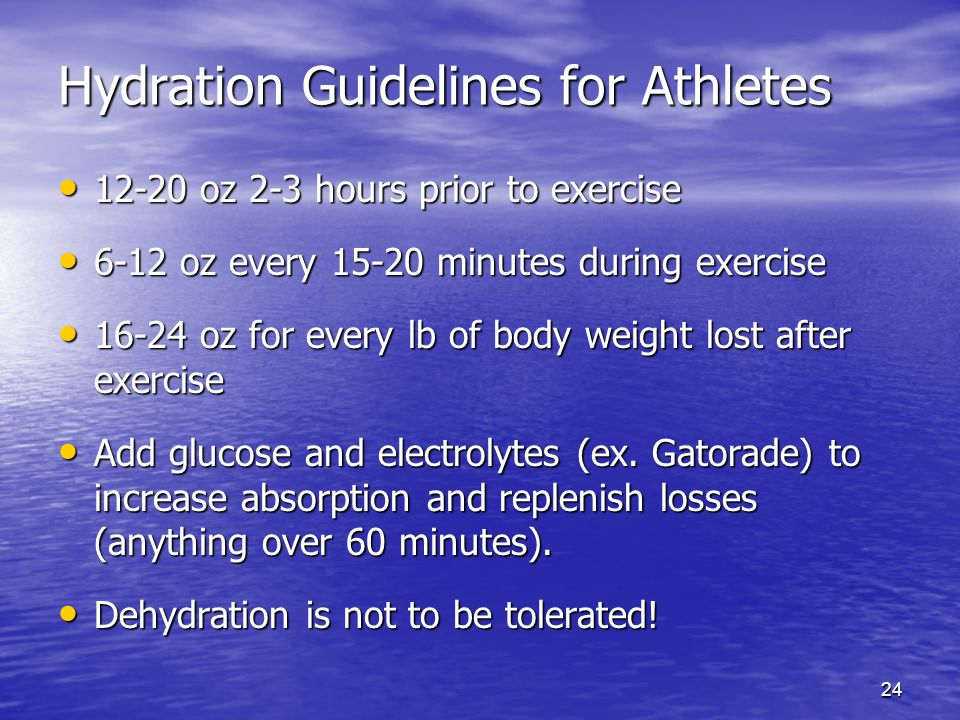 Hydration Guidelines for Athletes